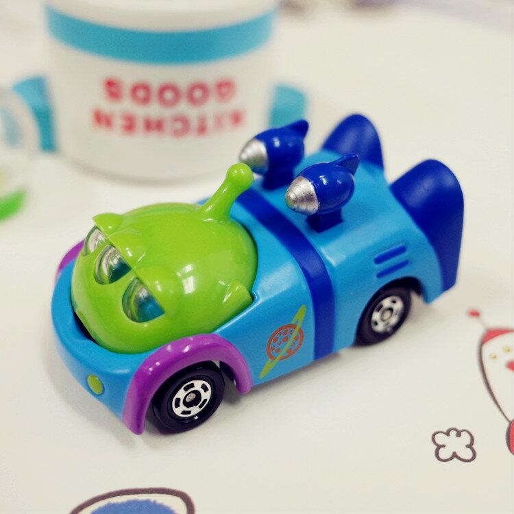 PGS7 日本迪士尼系列商品 - 樂園 限定 小車 - 三眼怪 賽車 Alien 玩具總動員 多美 小汽車【STD7828】
