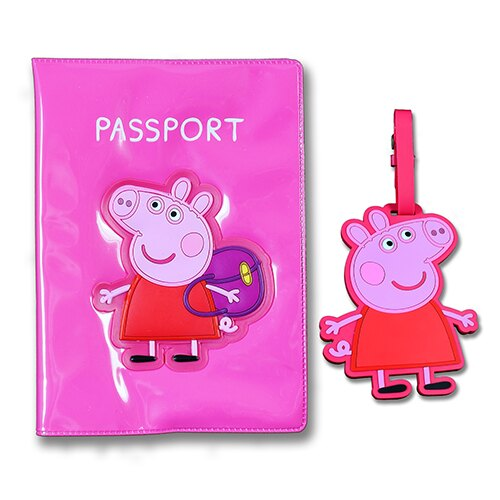 粉紅豬護照與旅行   Peppa Passport and Luggage Tag Set