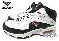【巷子屋】JUMP將門 男款牛皮抗菌氣墊籃球鞋 [5026] 白黑 超值價$690 0
