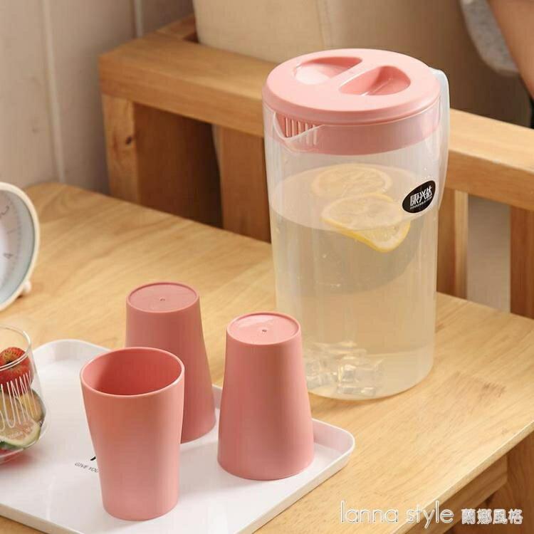 塑料大容量冷水壺涼開水涼水壺杯子家用耐高溫茶水壺涼水杯果汁壺