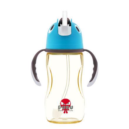 PUKU 藍色企鵝 PPSU 企鵝滑蓋學習水杯280ml-水色【悅兒園婦幼生活館】 0