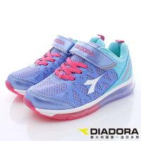【DIADORA】義大利國寶童鞋-全氣墊寬楦慢跑鞋(中大童)紫藍-7AKR3867-星空嵐-媽咪親子推薦