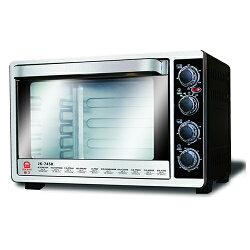 晶工45L雙溫控旋風電烤箱JK-7450【愛買】