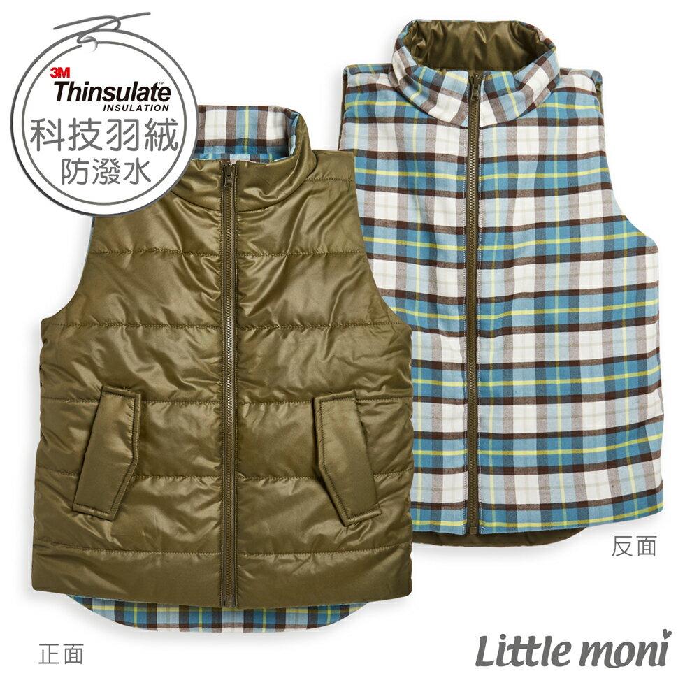 Little moni 3M科技羽絨保暖雙面穿背心-軍綠(好窩生活節) 0