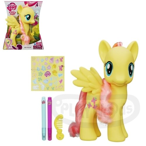 【Playwoods】[彩虹小馬My Little Pony] 8吋彩繪遊戲組:柔柔Fluttershy(小馬寶莉/Rainbow Power/友情就是魔法)