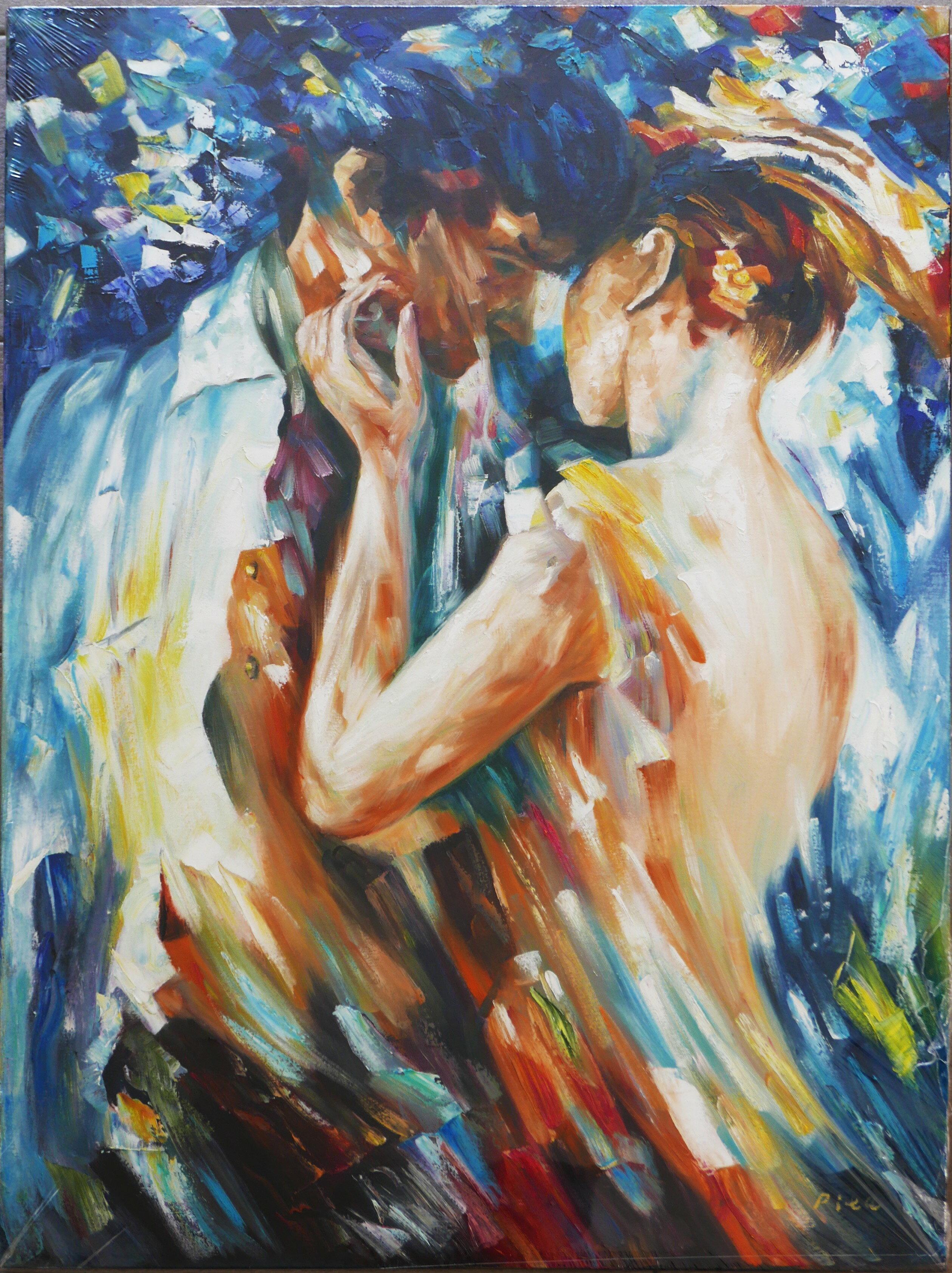 聚鯨Cetacea﹡Art【Untitled / Rita】進口油畫 無框畫 手繪油畫