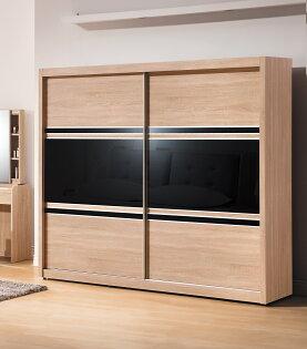 【尚品家具】HY-A102-01韋恩黑玻7x7尺衣櫥