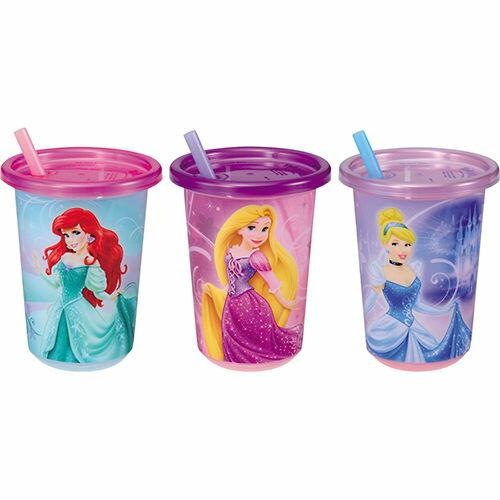 TOMY多美迪士尼人魚長髮灰姑娘兒童杯吸管水杯附蓋三件組818267