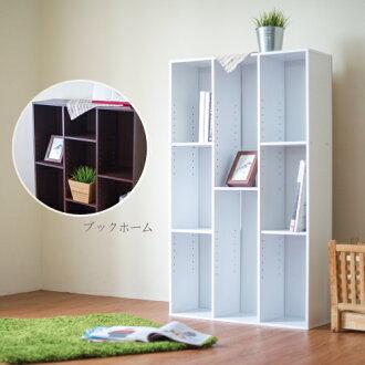 《Hopma》簡易三排書櫃-時尚白