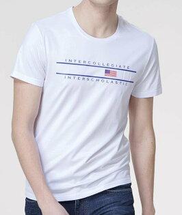 FINDSENSEMD韓國男街頭時尚潮國旗圖案字母印花短袖T恤特色T恤圖案T