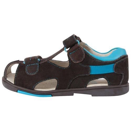 2e8ffcc5f590 Luxury Lane  Momo Grow Boys Double-Strap Leather Sandal Shoes ...