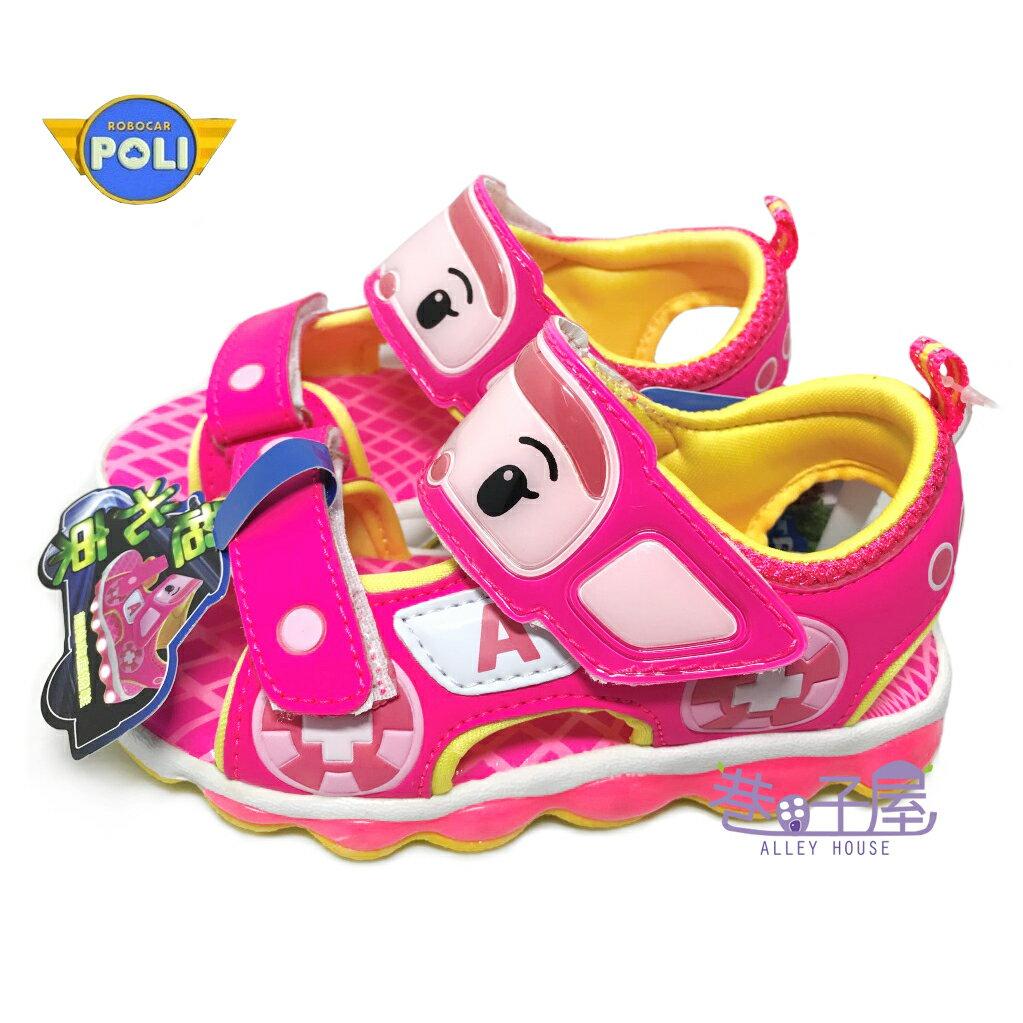 【巷子屋】救援小隊 POLI波力 安寶女童款超光束電燈涼鞋 [51223] 粉 超值價$198