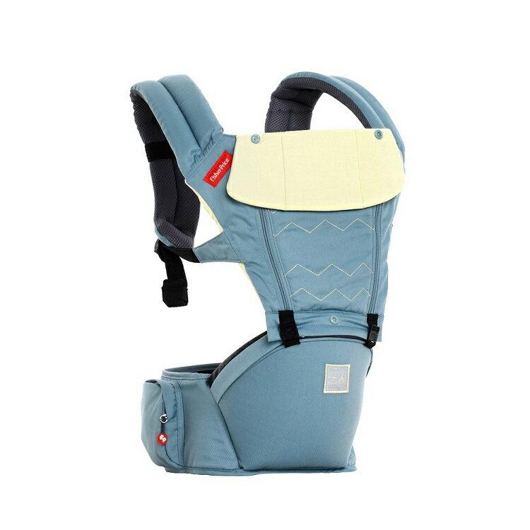 【Fisher-Price費雪】ARETE艾瑞特腰凳式揹巾(背巾)-湖水藍 1