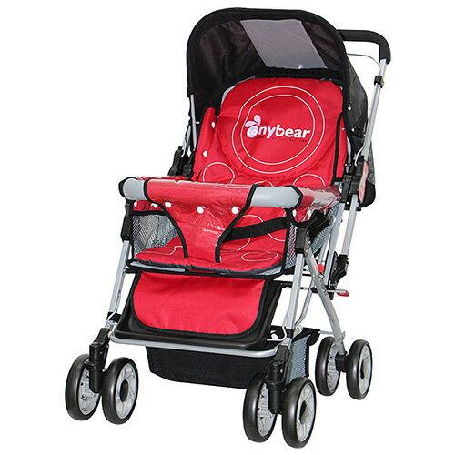 TheLife 樂生活:TONYBEAR嬰兒加寬雙向推車-玫瑰紅(BJT309R)