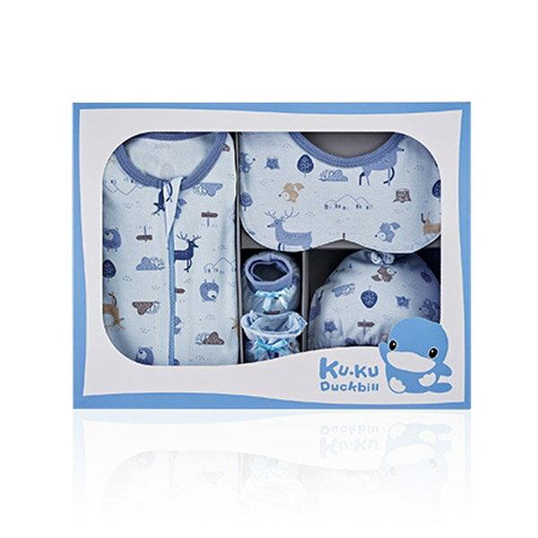 KUKU 酷咕鴨 北歐迷境森林包巾禮盒-7件組-2色可選【悅兒園婦幼生活館】
