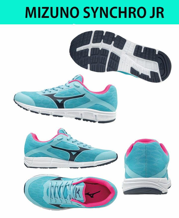 K1GC173218(水藍X黑)兼具運動休閑鞋款 MIZUNO SYNCHRO  Jr. 大童鞋 A【美津濃MIZUNO】 2