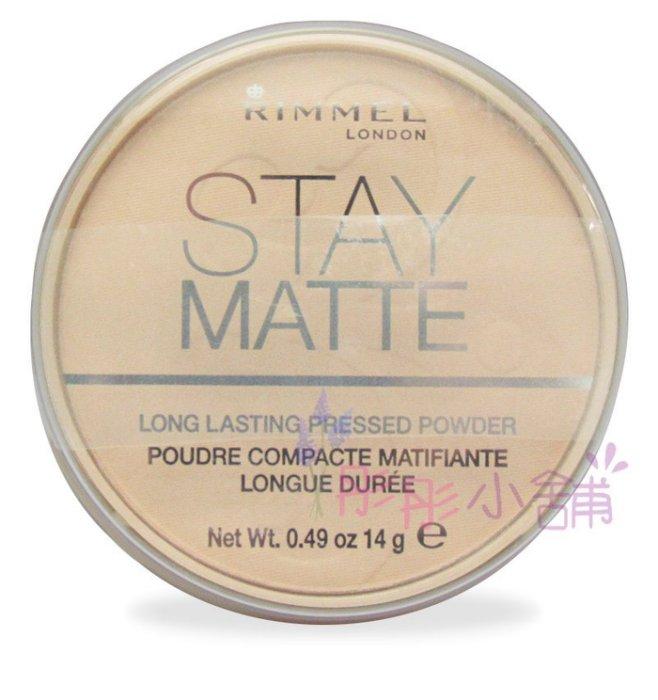 【彤彤小舖】英國 Rimmel Stay Matte 礦物質霧面控油蜜粉餅 14g Transparent 透明色
