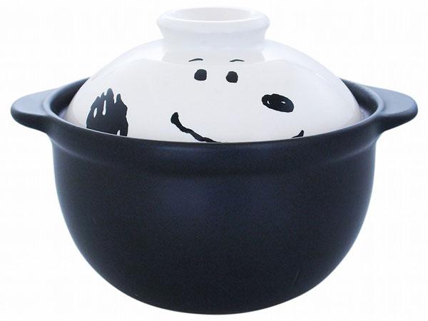 X射線【C604316】史努比陶瓷砂鍋,土鍋/陶鍋/單人碗/廚具/鍋/Snoopy