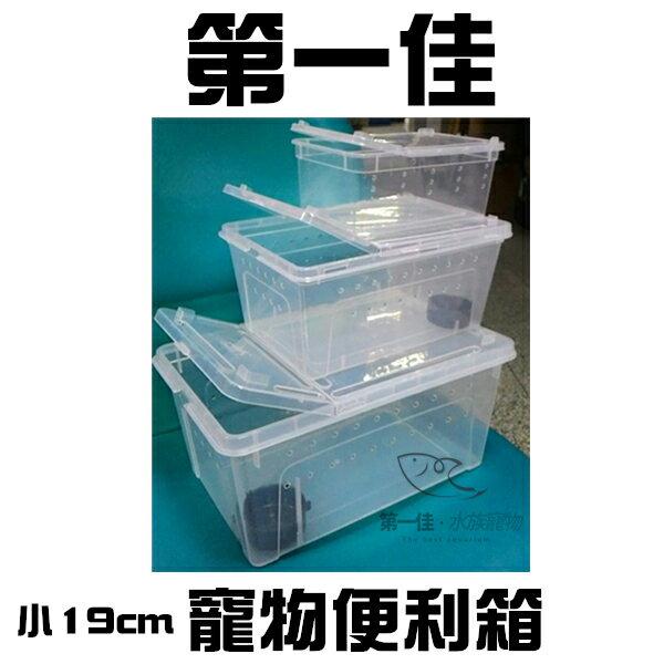 [第一佳水族寵物] 寵物便利箱-小19cm(無水盆)(大、中、小三款式) 可堆疊 可掀蓋 透氣孔