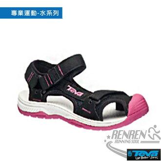 TEVA 女休閒涼鞋 Hurricane Toe Pro (黑*粉) 護趾設計 舒適透氣