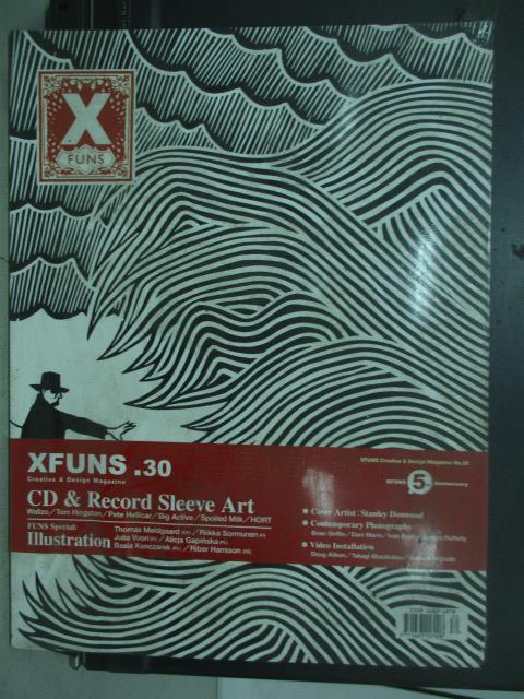 【書寶二手書T1/雜誌期刊_QCI】Xfuns放肆創意設計_30期_CD&Record sleeve art等