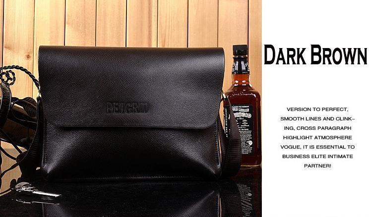 Men Leather Handbag Messenger Shoulder Briefcase 1