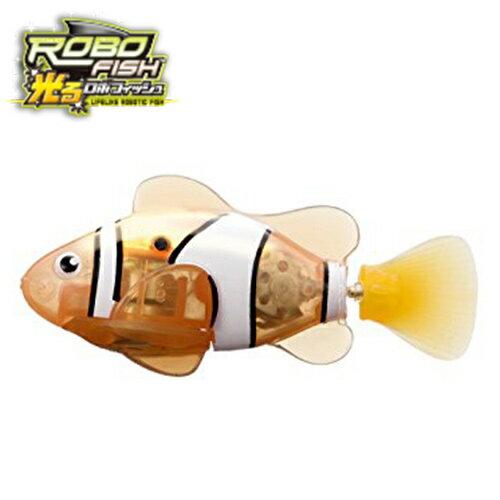 小丑魚【日本正版】ROBO FISH 歡樂寵物魚 LED 發光版 電子寵物 戲水玩具 洗澡玩具 - 524714