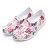 《2019新款》Shoestw【92K1SA08PK】PONY TROPIC 水鞋 童鞋 中大童鞋 軟Q 防水 洞洞鞋 五彩花卉白 親子鞋 0