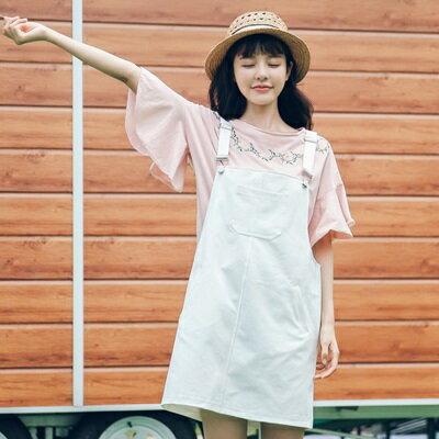 吊帶裙牛仔連衣裙-時尚休閒簡約百搭女背帶裙子73rx43【獨家進口】【米蘭精品】