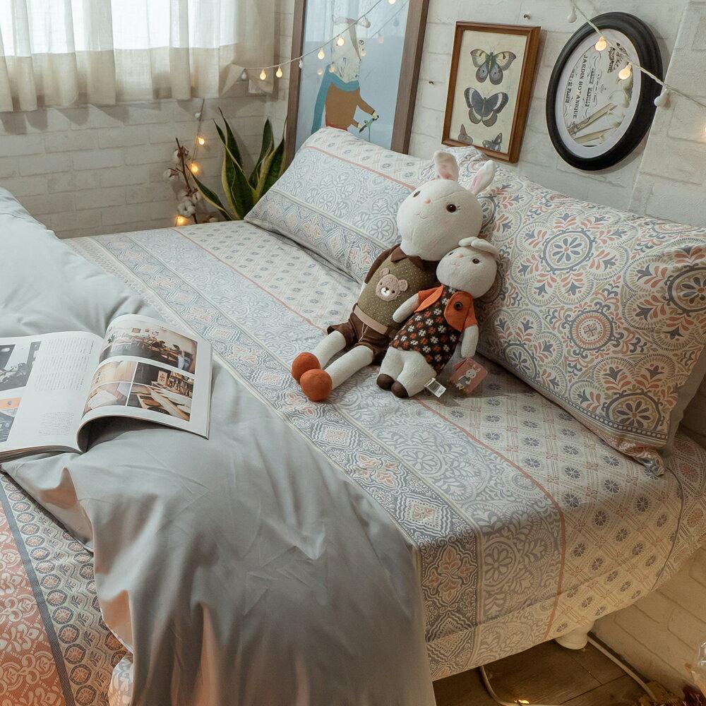 精梳棉 床包 被套 兩用被 床組 單人床包組/雙人床包組 [青花瓷] 台灣製造 棉床本舖