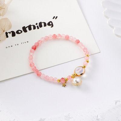 PS Mall 韓版甜美少女心金屬纏繞珍珠串珠手鏈森林系簡約個性手串【G2528】 3