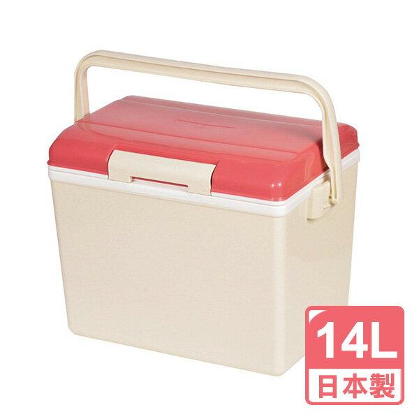 日本Pearl鹿牌CielCiel日式冰桶保冰保冷14L(粉紅)