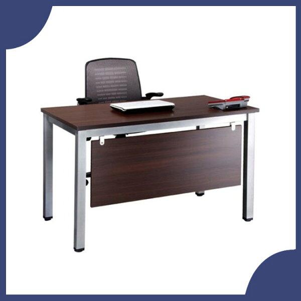 『商款熱銷款』【辦公家具】TSB-120E深胡桃烤銀方形4E辦公桌辦公桌書桌桌子