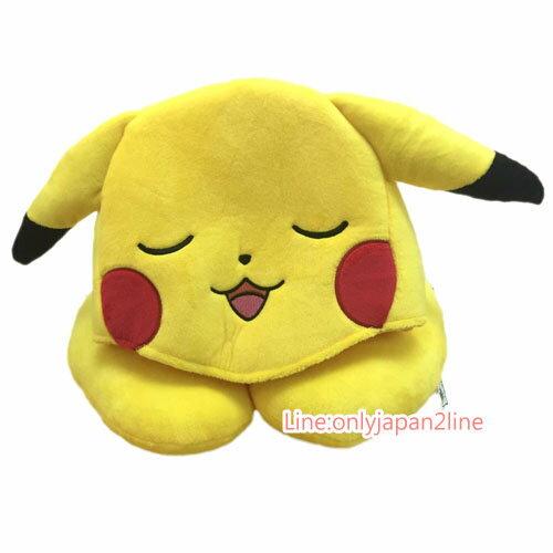 【真愛日本】17032100006 造型帽附頸枕-皮卡丘 神奇寶貝 Pokemon 寶可夢 帽子 午睡枕