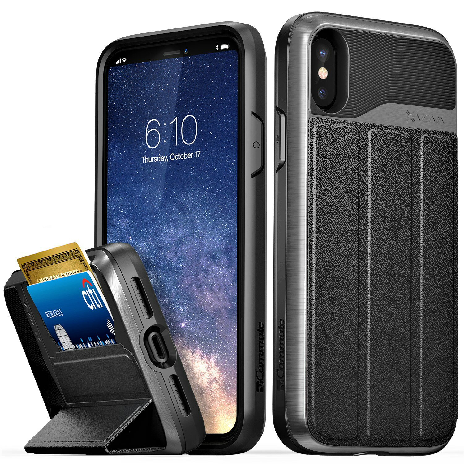 quality design 10e8c 3be39 Vena vCommute Wallet Case for iPhone X (iPhone 10 / Ten)