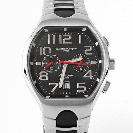范倫鐵諾Valentino 酒桶雙眼穩重時尚不鏽鋼手錶 計時功能 50米防水 柒彩年代【NE1829】單支售價 - 限時優惠好康折扣
