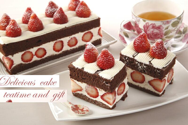 【草莓巧克力蛋糕☆】草莓巧克力蛋糕(一條)450元★母親節蛋糕推薦 3