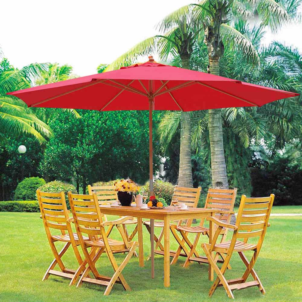 half round beige aluminum outdoor god w living patio outsunny sunshield ribs umbrella