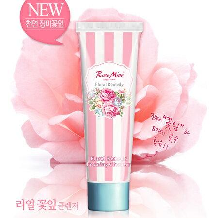 獨家 韓國 EVAS 玫瑰花香泡沫洗面乳 130g 潔面乳【N200938】