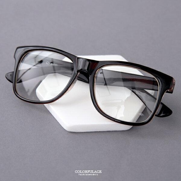 平光眼鏡 簡單潮流中性素面鏡框 書卷氣息 柒彩年代【NY374】 - 限時優惠好康折扣