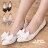 格子舖*【AA901B】MIT台灣製 氣質皮革蝴蝶結舒適柔軟乳膠墊 OL穿搭必備單品 尖頭包鞋 娃娃鞋 3色 0