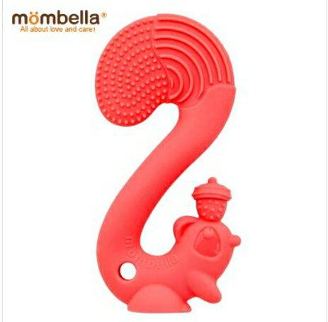 小烏龜精品童裝店:英國mombella萌萌小松鼠固齒器-紅色