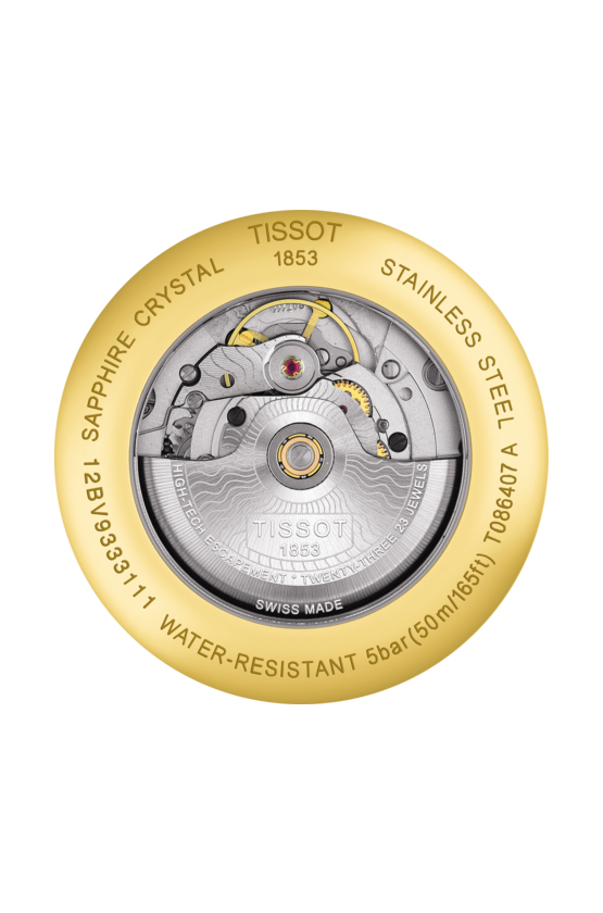 TISSOT 天梭 T0864072226100 T-Classic Luxury 機械手錶 銀 金41mm