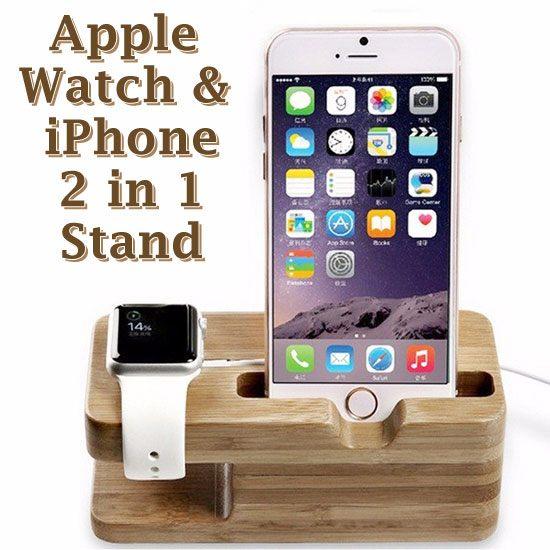 【充電展示座】AppleiPhone&Watch38mm42mm智慧手機、手錶二用底座展示架