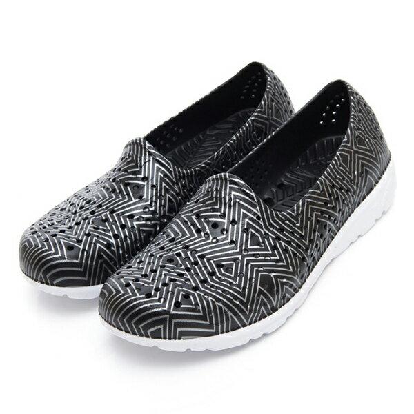 《2019新款》Shoestw【92U1SA06BK】PONY TROPIC 水鞋 軟Q 防水 懶人鞋 洞洞鞋 黑色銀線 男女尺寸都有 0