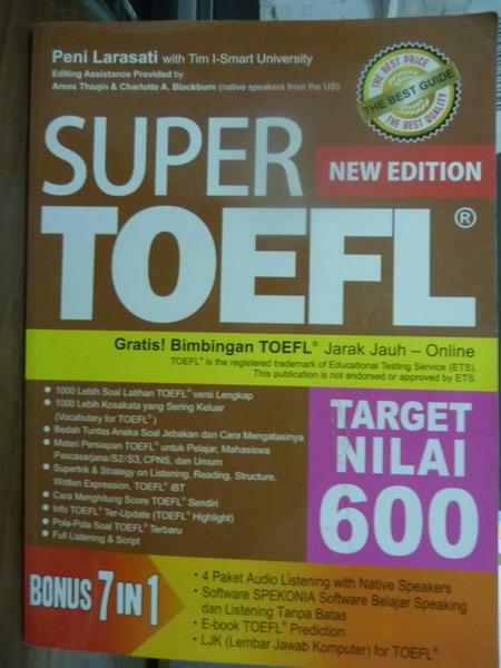 ~書寶 書T3/語言學習_PIG~Super Toefl New Edition…Nila