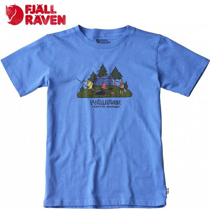 Fjallraven 小狐狸 兒童有~機棉短袖T恤 圓領T恤 T~Shirt 旅遊日常 兒