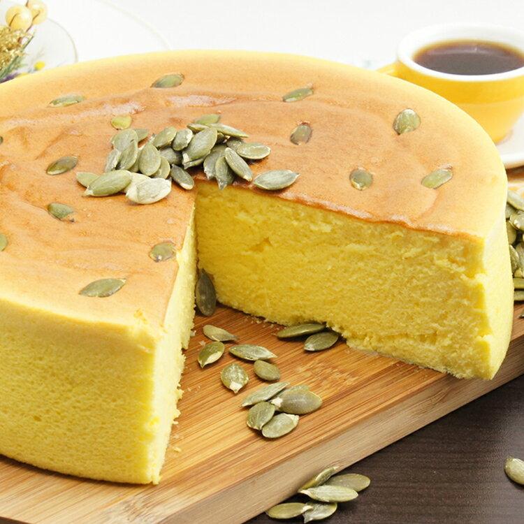 [伯恩乳酪工坊]❤8吋黃金南瓜乳酪❤伯恩頭家得意作品❤ 大量南瓜泥使用.使蛋糕體呈現金黃色 色香味俱全 兼顧健康養生 2