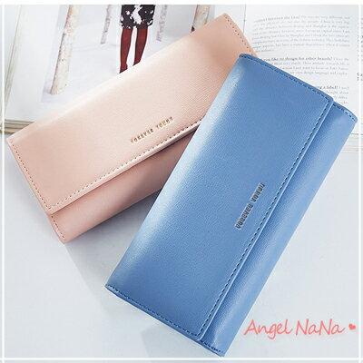 長夾-高質感防磨耐刮簡約長款女皮夾AngelNaNa【MA0245】