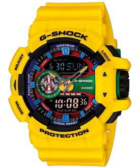 國外代購 CASIO G-SHOCK GA-400-9A 雙顯 大錶面 運動防水手錶腕錶電子錶男女錶 樂高黃